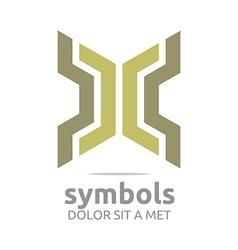 Logo design zigzag icon symbol abstract vector