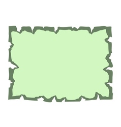 Parchment old paper Empty banner green vector image vector image