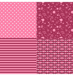 romantic patterns vector image vector image