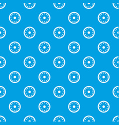 Round military shield pattern seamless blue vector