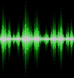 sound waveform vector image vector image
