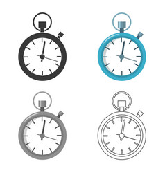 Stopwatch icon of for web and vector