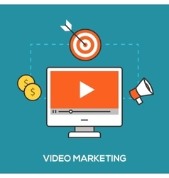 Video marketing concept vector