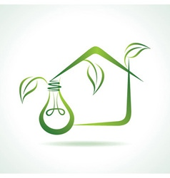 Abstract eco-home with bulb vector