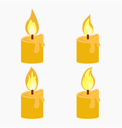 Candle with fire animation vector