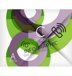Infographic abstract background vector