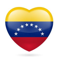Heart icon of venezuela vector