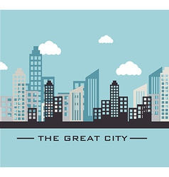Urban design over blue design vector