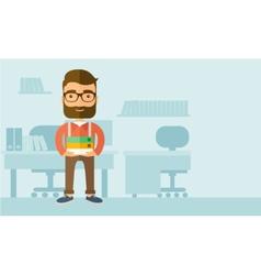 Streesful employee vector image
