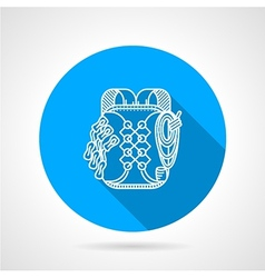 Backpack flat line icon vector