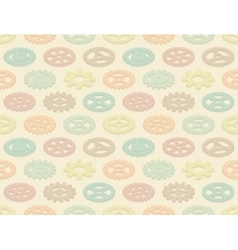Isometric colored gears seamless pattern vector