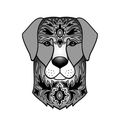 Ornamental black dog vector