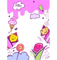 Image with very tasty ice cream vector