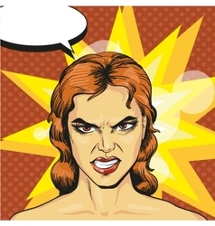Angry infuriated woman in vector