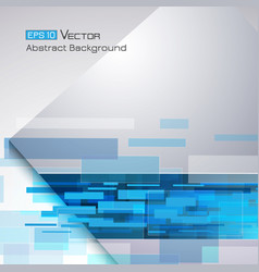 background with blue rectangles vector image vector image