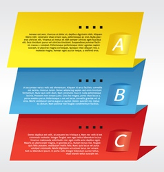 Colorful Three Step Banners vector image vector image