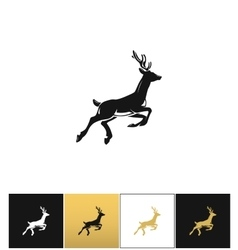 Deer silhouette or reindeer icon vector image