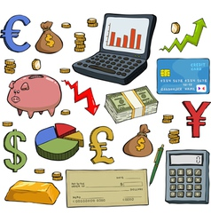 financial set vector image