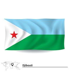 Flag of Djibouti vector image vector image