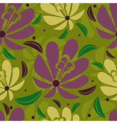 floral tropical pattern vector image vector image