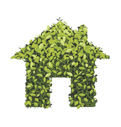Green economy house icon isolated on white vector