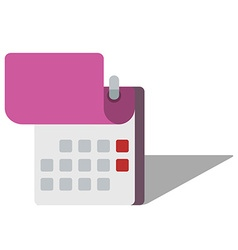 Icon of calendar in flat style vector image vector image