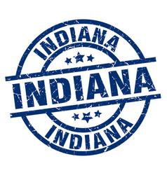 Indiana blue round grunge stamp vector