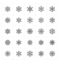 mini icon set snowflake icon vector image vector image