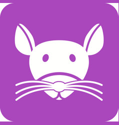 Mouse face vector