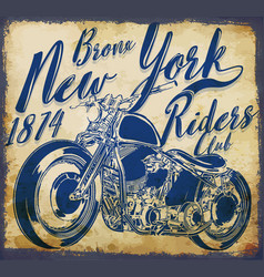 New york vintage t-shirt graphic vector