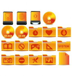 operational system icons vector image vector image