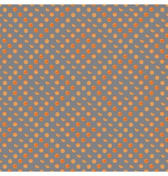 Orange with peel and orange slice seamless vector