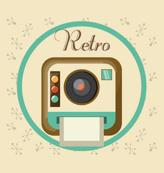 retro camera pictures design image vector image