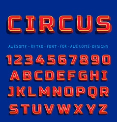 Retro Shiny Font with shadow vector image vector image