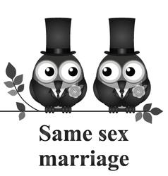 Same sex marriage vector