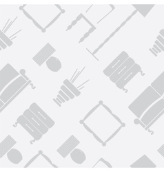 Seamless pattern with flat furniture icons vector image