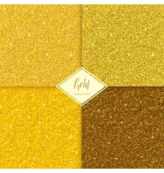 Set of glitter gold texture vector image vector image