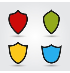 set of modern shields vector image
