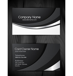 shiny business card template vector image vector image