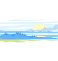 Sunrise Landscape vector image