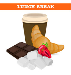 Sweet lunch break vector