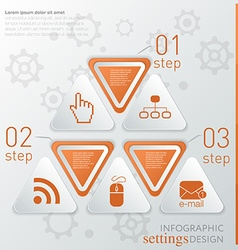 Template technology infographic icon and steps vector image