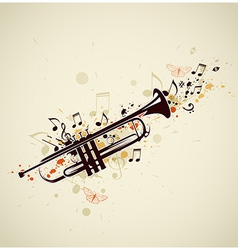 trumpet abstract vector image