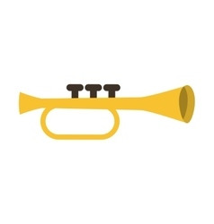 trumpet instrument musical icon vector image vector image