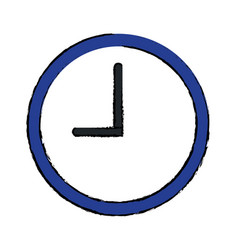 watch clock time minute image vector image