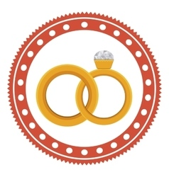 Isolated engagement ring design vector