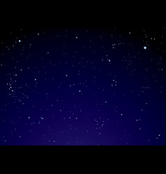night sky with star clouds vector image