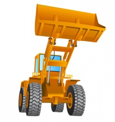 construction machine vector image