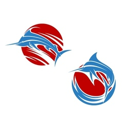 Blue marlin fish vector image