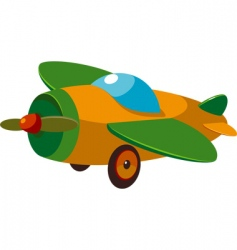 toy plane vector image